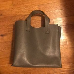 FURLA salvia leather 'Muse' tote in jungle green